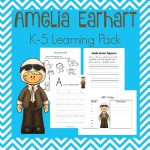 FREE Amelia Earhart Printable for K-5