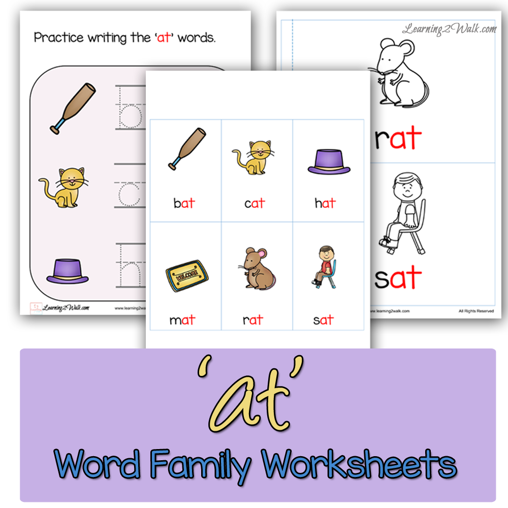 At Word Family Worksheets The Homeschool Village – In Word Family Worksheets