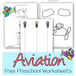 Aviation Free Preschool Worksheets