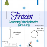 Counting Frozen Worksheets
