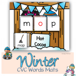 Winter CVC Words Worksheets