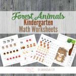 Forest Animals Kindergarten Math Worksheets