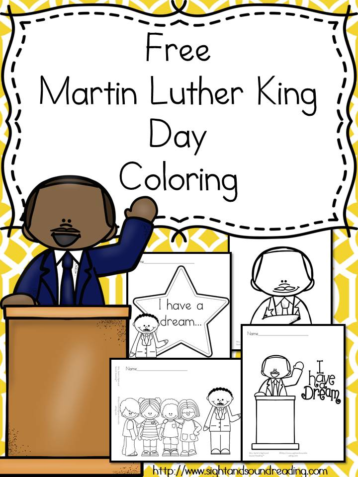 Free Martin Luther King Jr Day Coloring Pages The