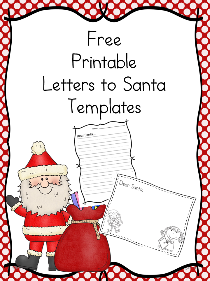 free santa letter templates the homeschool village. Black Bedroom Furniture Sets. Home Design Ideas