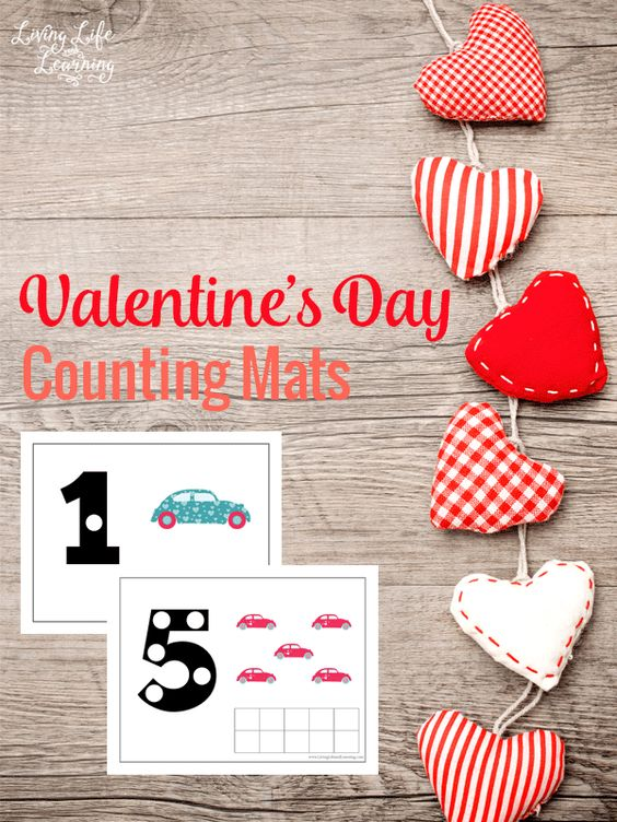 Free Valentine's Day Counting Mats