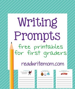 image about Free Printable Writing Prompts known as No cost Printable To start with Quality Composing Prompts Pack - The