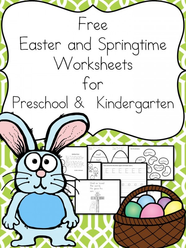 Free Easter & Springtime Worksheets for Beginning Readers
