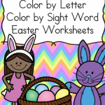 Free Easter Color By Letter & Sight Word Worksheets