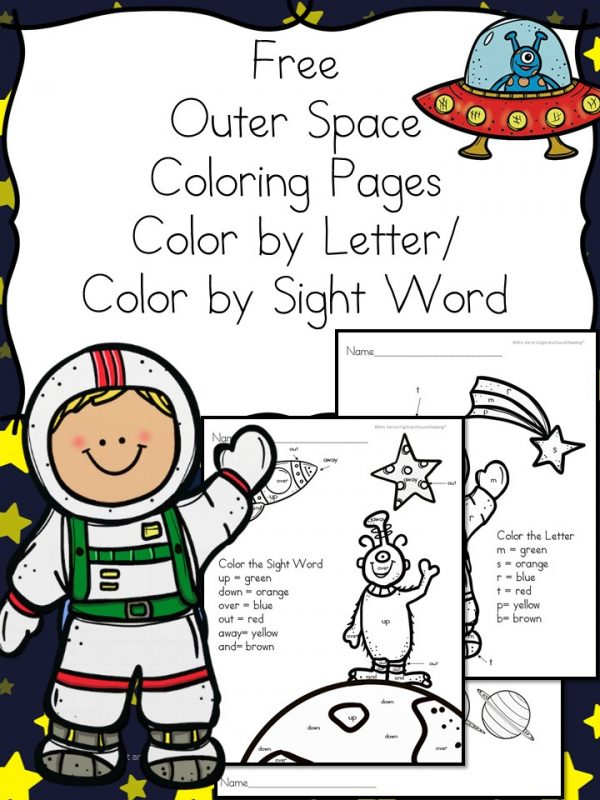 Outer Space Coloring Pages - The Homeschool Village
