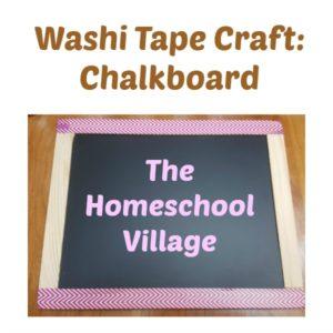 Washi Tape Craft: Chalkboard