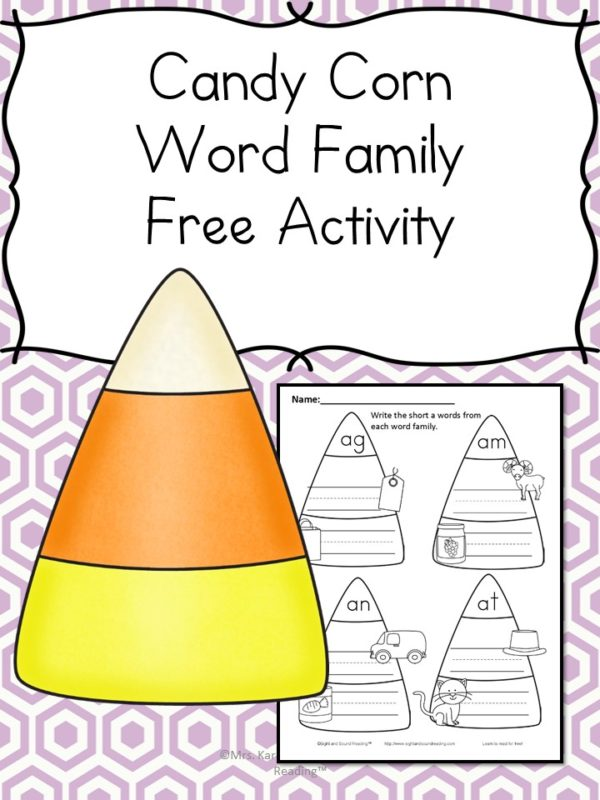 Halloween Phonics Worksheet  The Homeschool Village