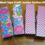 Washi Tape Covered Jumbo Clothes Pins