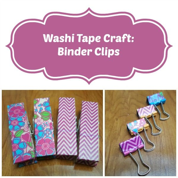 washi tape craft binders clips