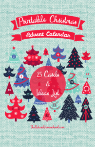 Advent Christmas Calendar – Printable Cards and Lists (Trees Edition)