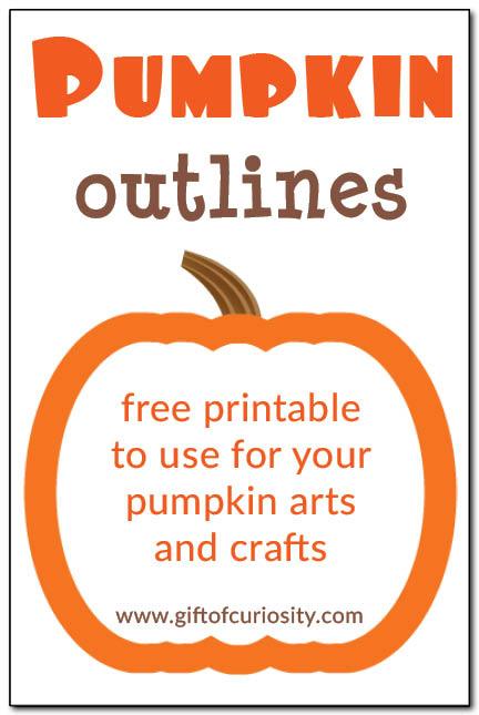 Pumpkin Outlines {Free Printables}