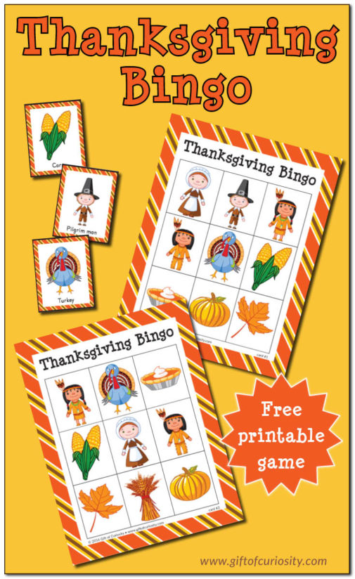 Thanksgiving Bingo {free printable}