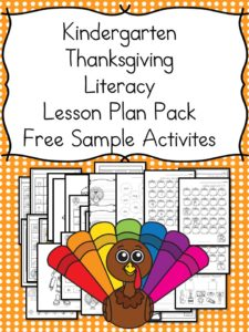 Thanksgiving Lesson Plans for Kindergarten