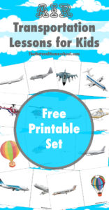Air Transportation Printable Cards