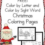 Christmas Color by Letter Worksheets