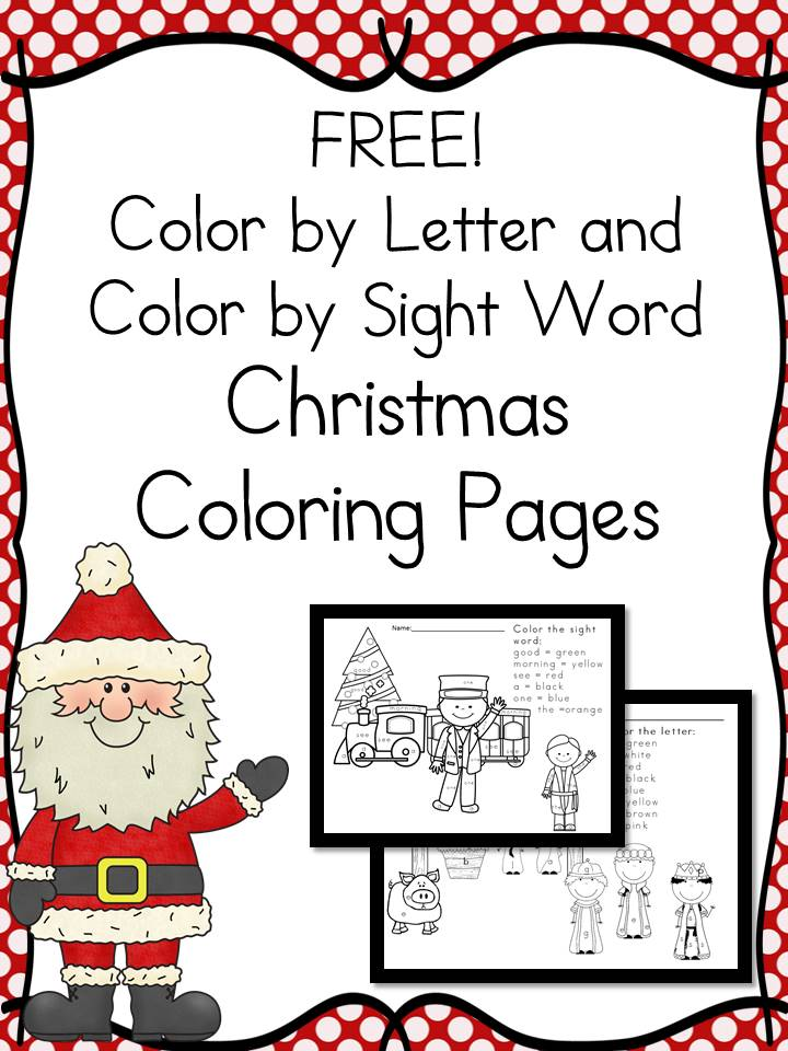 Christmas Color by Letter Worksheets - The Homeschool Village