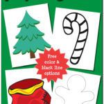 Christmas Play Dough Mats {free printable}