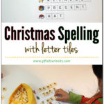 Christmas Spelling Activity Using Letter Tiles