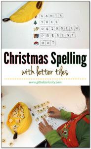 Christmas Spelling Activity Using Letter Tiles
