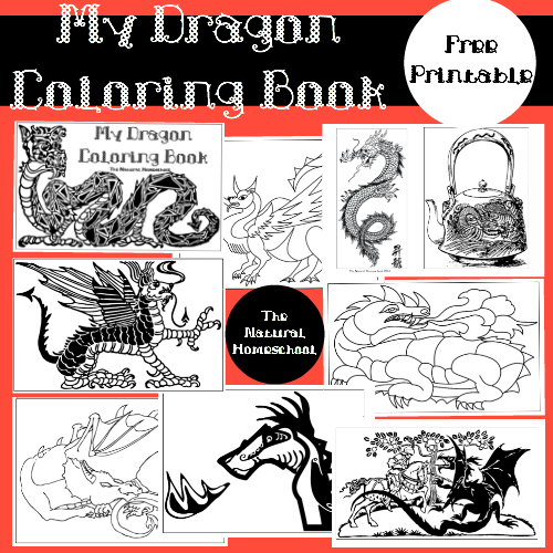 Dragon Books and Activities – Free Coloring Printable Pages