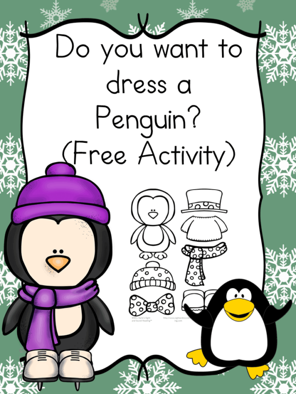 Free Activity - Do You Want to Dress a Penguin?