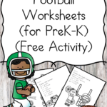 Free Kindergarten Football Worksheets