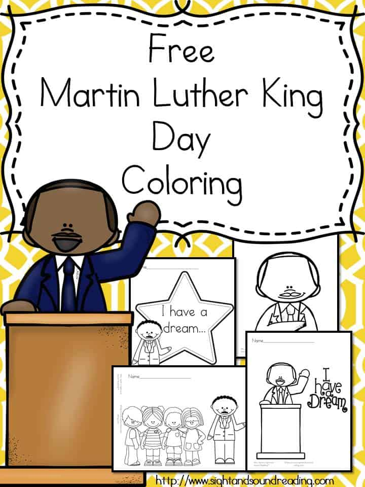 Free Martin Luther King Day Coloring Pages