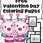 Printable Valentine Coloring Book Pictures