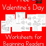 Fun, Free Valentine's Day Worksheets for Beginning Readers