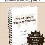 Free 130+ page World History Timeline Notebook