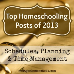 Need some help figuring out your homeschool schedule? This post has lots of resources for schedules, planning, time management and more.