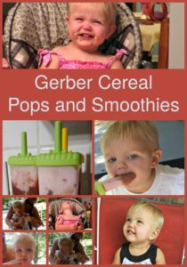 Gerber Cereal Pops and Smoothies