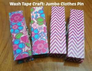 Washi Tape Craft: Clothes Pins